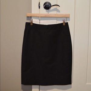 J. Crew : No. 2 Pencil Skirt - Black